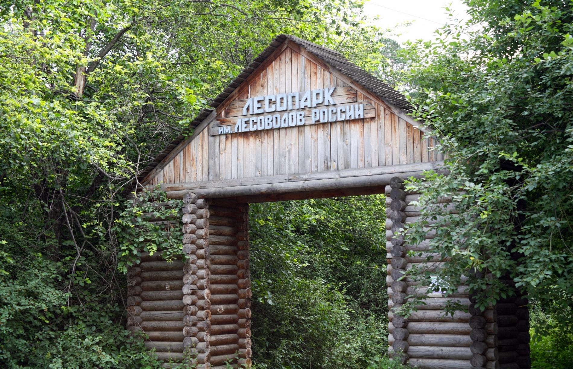 Главный вход в Парк лесоводов
