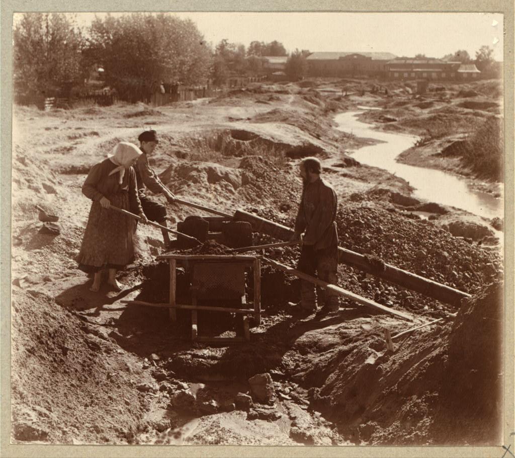 Добыча золота в Березовском, фото Прокудина-Горского