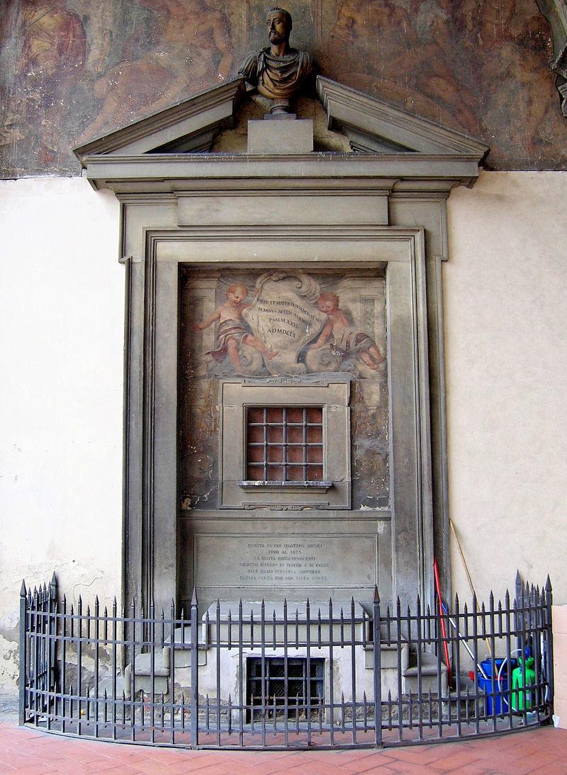 Окно для подкидышей в Воспитательном доме во Флоренции, 15 век
