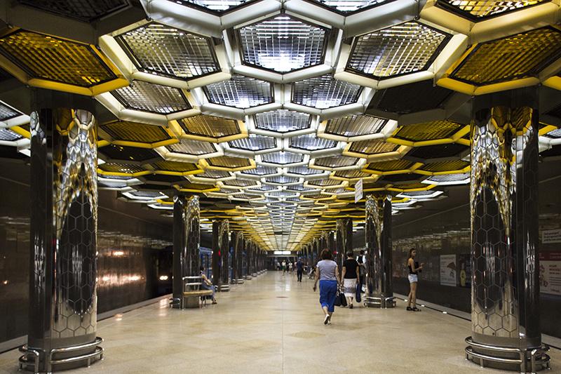 Botanicheskaya metro station by S.U. Ziganshin and V.N. Veselovsky   (2011) © Roberto Conte