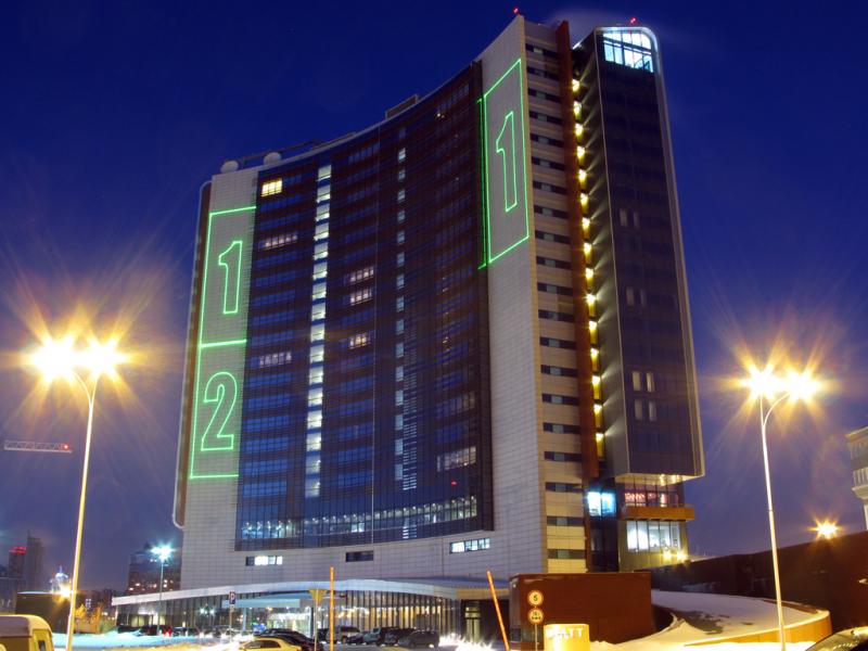 Лазерные проекции на Хаятт отель. Эвент Газпрома.