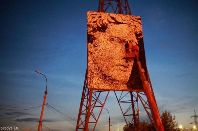 Античный персонаж появился в Екатеринбурге.
