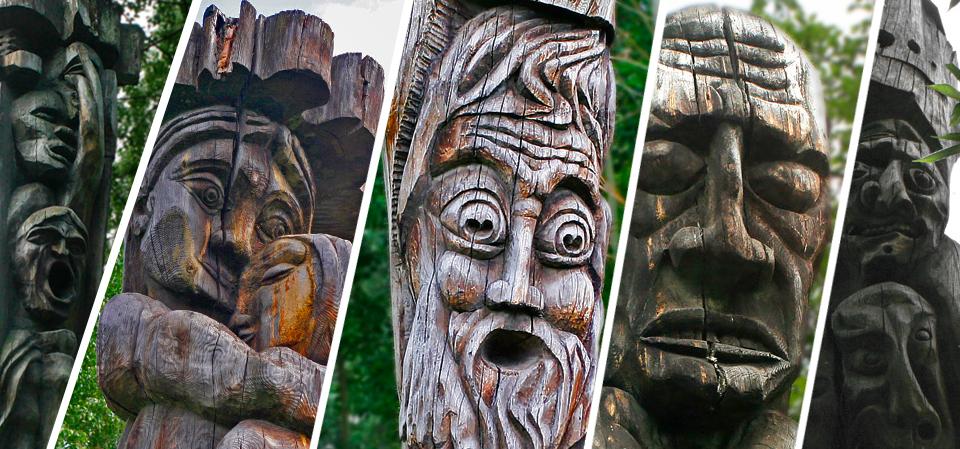 Деревянные идолы Екатеринбурга
