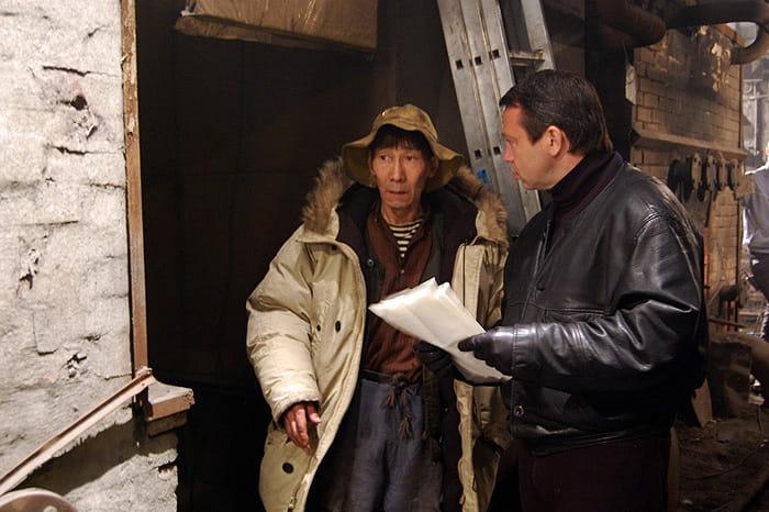 Фото со съемок фильма «Кочегар»