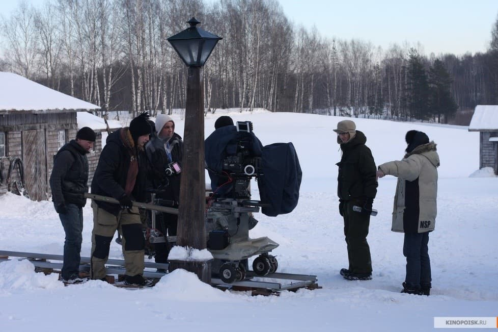 На съемках фильма «Река»