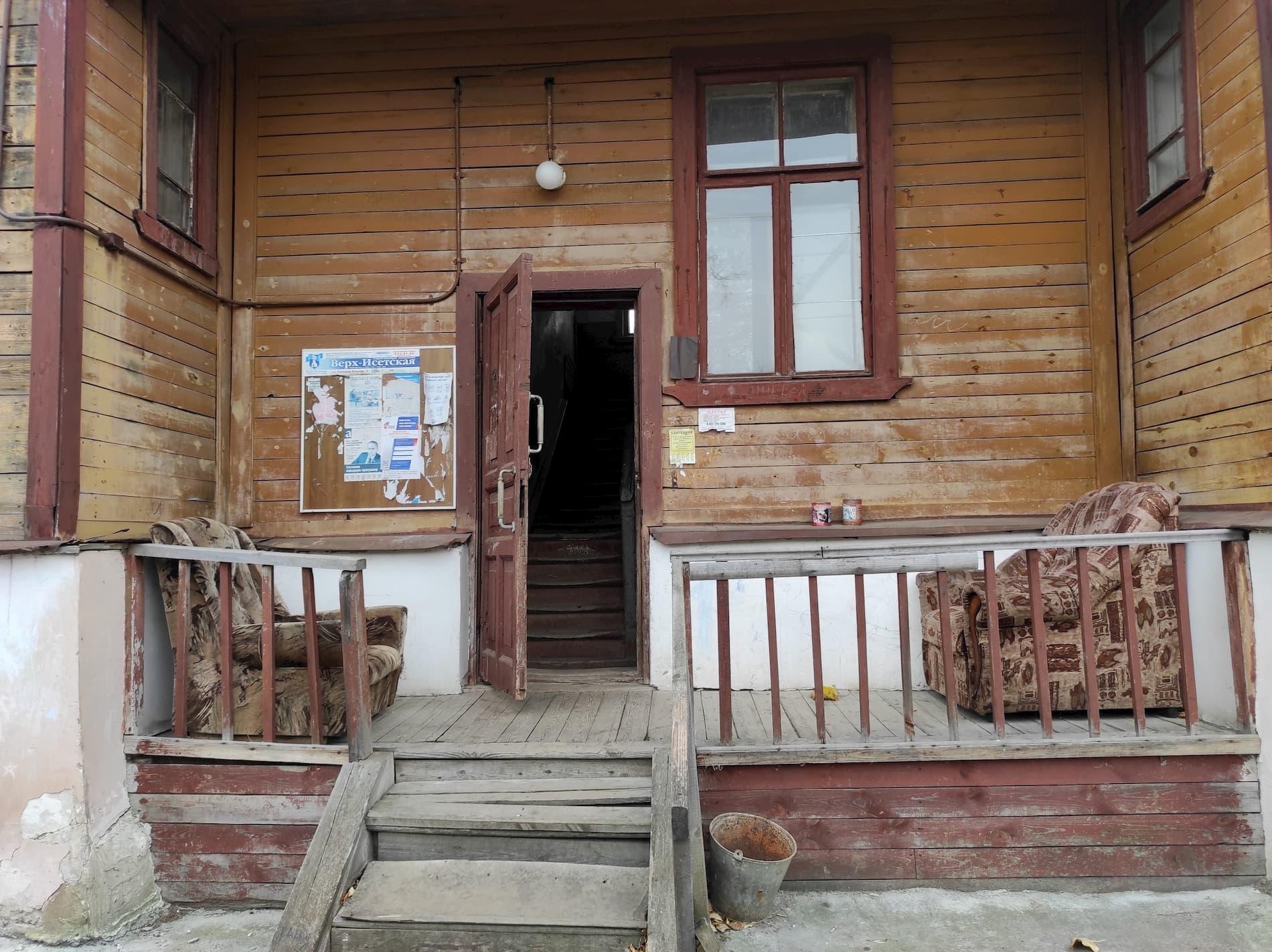 Строители и энергетики жили в добротных двухэтажных деревянных домах