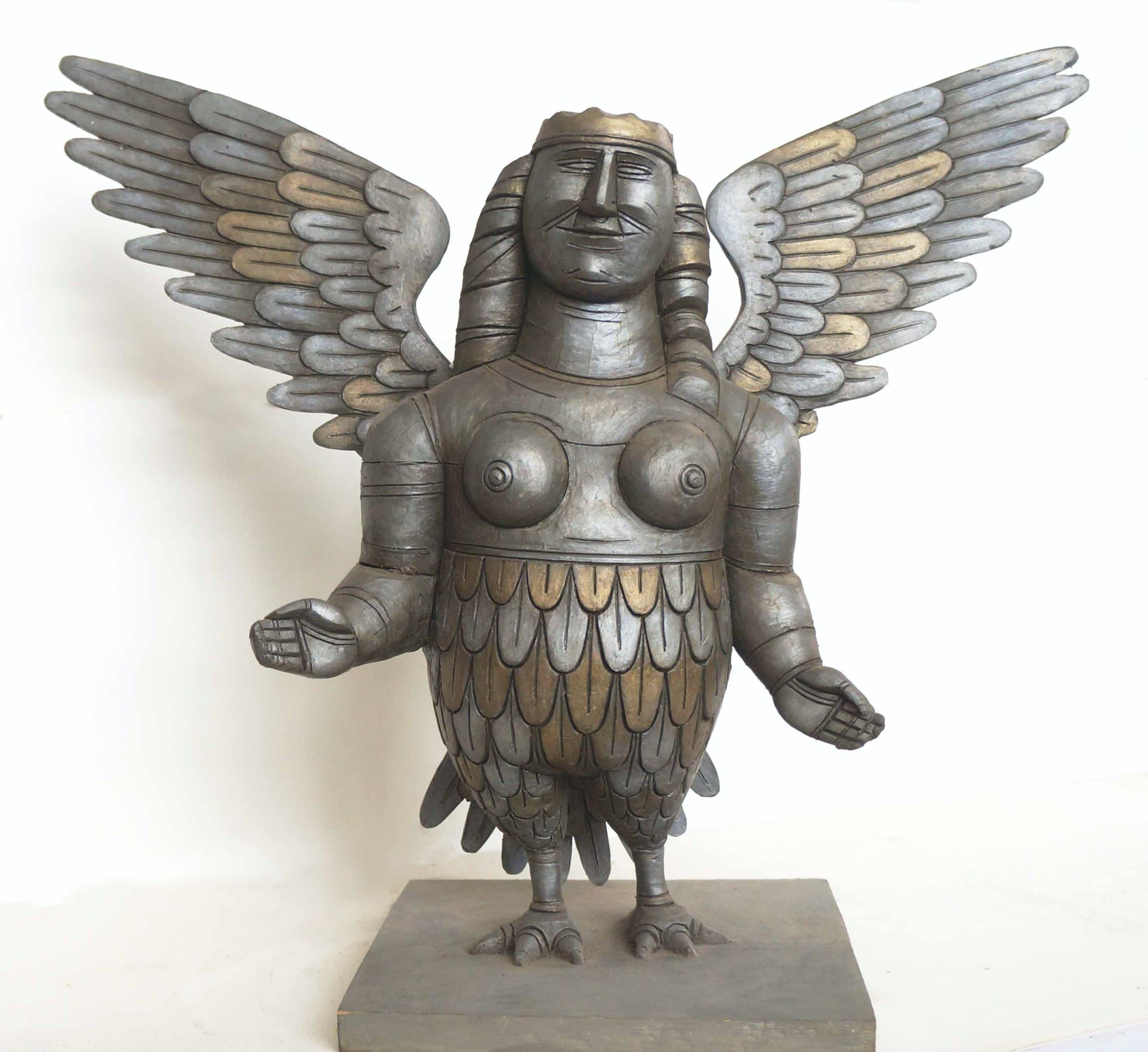 Борис Клочков, «Птица счастья», эскиз скульптуры для фасаде ТПК, 1993 (не осуществлено)