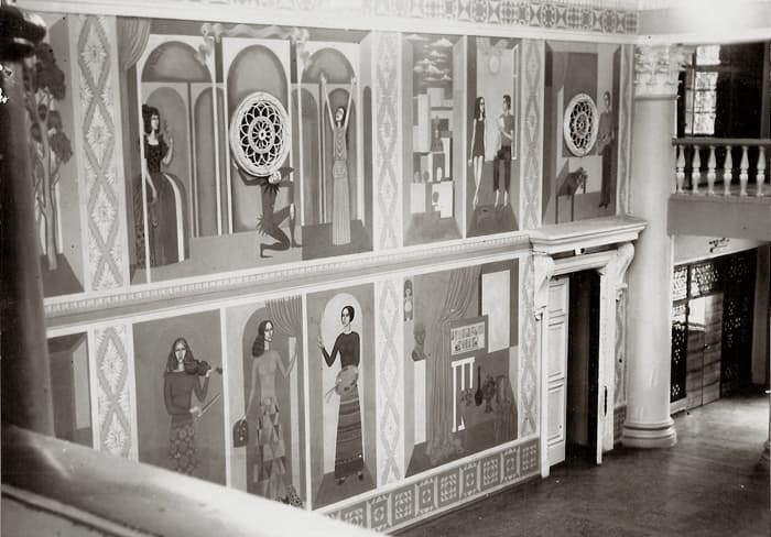 Борис Клочков, роспись «Наука и творчество» в ДК Ревда, 1978