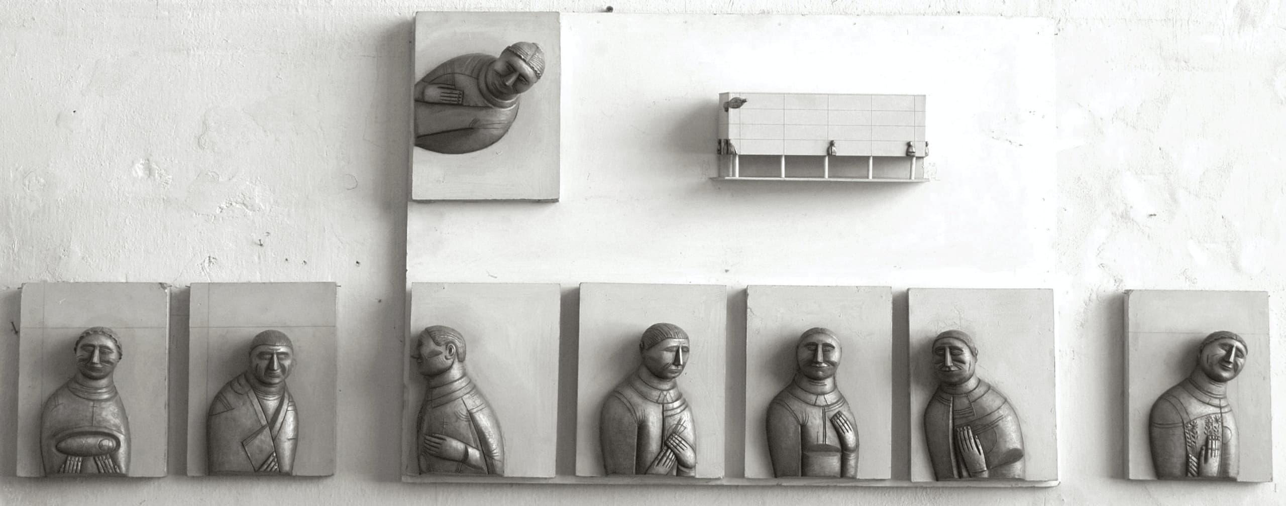 Борис Клочков, эскиз рельефа для фасада НИИ «Наука и жизнь», Химмаш, 1989 (не осуществлено)