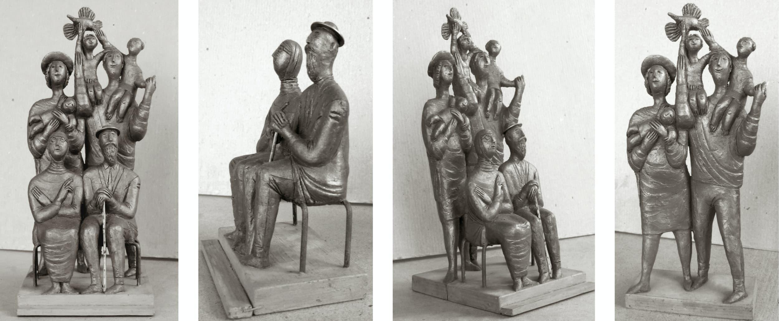 Борис Клочков, эскиз к скульптуре «Семья», 2013 (не осуществлено)