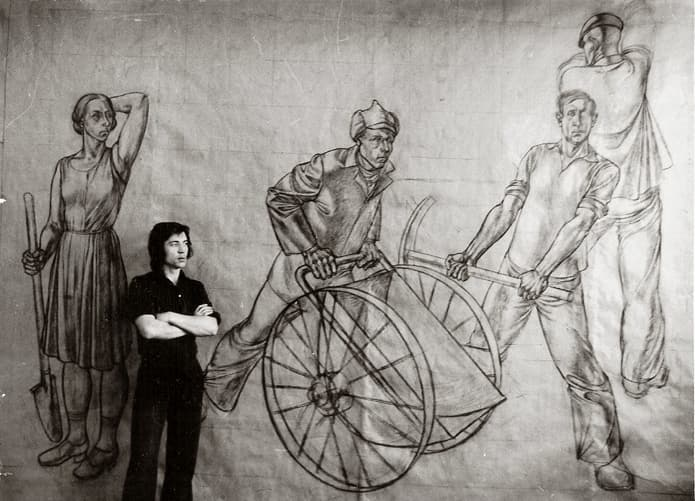 Борис Клочков, дипломная работа «Строители Магнитки», 1976