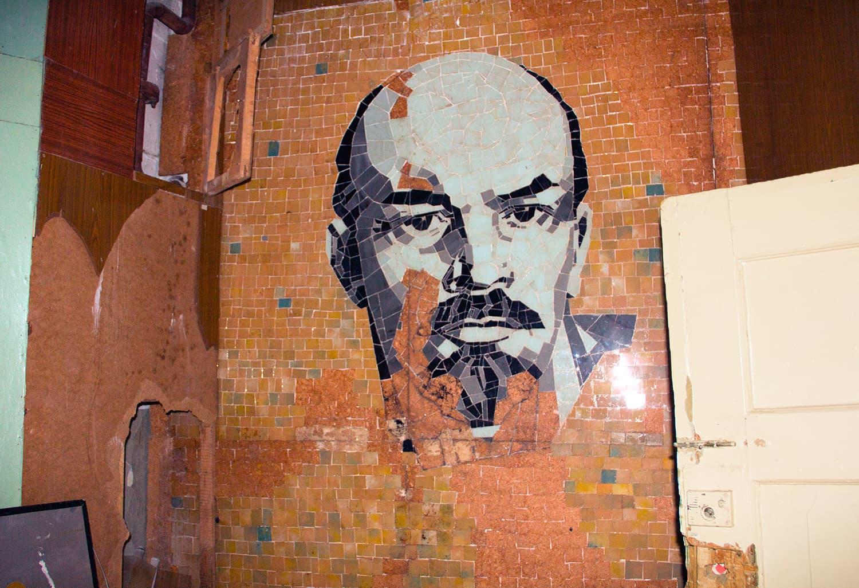 Впечатляющая мозаика с Лениным