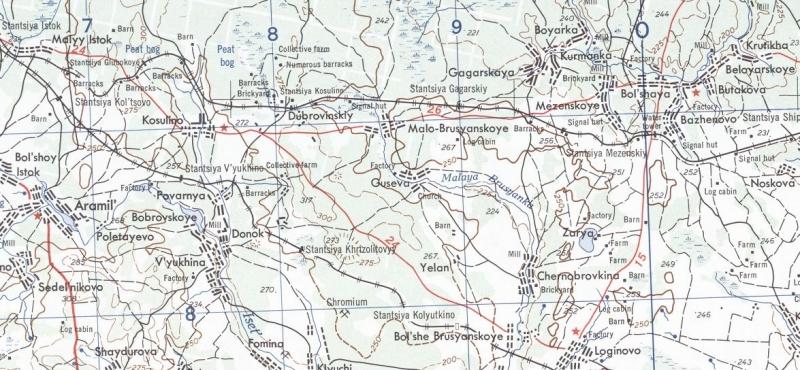 Американские военные карты Свердловска и области