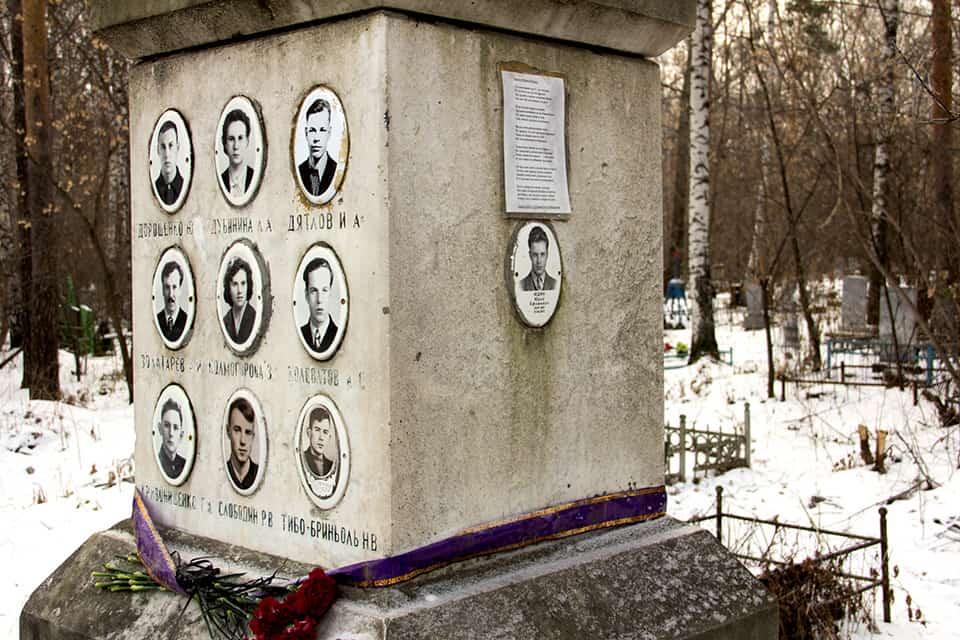 Михайловское кладбище: мемориал в честь группы Дятлова